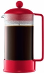 Coffee Press, Red - Bodum 8 cup (1.40 lbs) **SPECIAL ORDER**