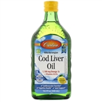 Cod Liver Oil, Lemon Flavored - Carlson 500 ml (1.83 lbs)