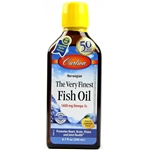 Fish Oil, Lemon Flavored - Carlson 200 ml (6.7 oz) (0.89 lbs)