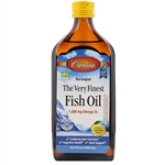 Fish Oil, Lemon Flavored - Carlson 500 ml (2.02 lbs)
