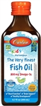 Fish Oil, For Kids - Liquid Omega 3 Orange - Carlson 200 ml (0.88 lbs)