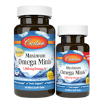 "Maximum Omega Minisâ""¢ - Natural Lemon Flavored - Carlson Labs 60 + 20 soft gels  (0.30 lbs)"