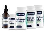 Step 4 - Systemic Detox - Fulvic Iodine, HM-ET Binder, Inflamma Control, CT-Minerals - CellCore Biosciences (0.86 lbs)
