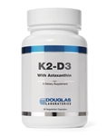 K2 D3 With Astaxanthin - Douglas Labs 30 caps (0.07 lbs)