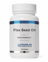 Flax Seed Oil (organic) - Douglas Labs 100 softgels (0.37 lbs) **SPECIAL ORDER**