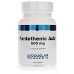 Pantothenic Acid (Vitamin B5) - Douglas Labs 500 mg 100 caps (0.20 lbs)