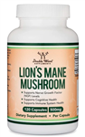 Lion's Mane Mushroom - Double Wood Supplements 500 mg 120 caps (0.45 lbs)