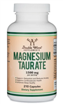 Magnesium Taurate  - Double Wood Supplements 1500 mg 210 caps (0.85 lbs)
