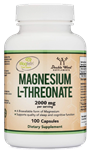 Magnesium L-Threonate - Double Wood Supplements 2,000 mg 100 caps (0.40 lbs)