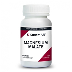 Magnesium Malate Hypoallergenic - Limited Stock Available - Kirkman Labs 1000 mg (200 mg elemental) 120 caps (0.38 lbs)