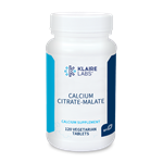 Calcium Citrate-Malate - Klaire Labs 250 mg 120 Tabs (0.39 lbs)