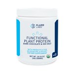 Functional Plant Protein Powder + prebiotics - Dark Chocolate and Sea Salt - Klaire Labs 582 g [20.50 oz] (1.47 lbs) **SPECIAL ORDER**