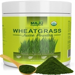 Organic Wheatgrass Juice Powder - Maju Superfoods 5.5 oz (156 grams) (0.70 lbs)