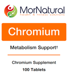 Chromium - MorNatural 200 mcg 100 tabs (0.10 lbs)