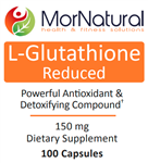 L-Glutathione Reduced - MorNatural 150 mg 100 vcaps (0.14 lbs)