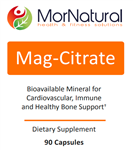 Mag-Citrate (Magnesium Citrate) - MorNatural 150 mg 90 vcaps (0.30 lbs)