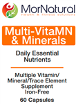 Multi VitaMN Multi Vitamins & Minerals - (Replaces VitaPrime) MorNatural 60 vcaps (0.15 lbs)