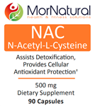 NAC N-Acetyl-L-Cysteine - (Replaces Klaire) MorNatural 500 mg 90 vcaps (0.18 lbs)