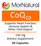 Coenzyme Q10 - CoQ10 - MorNatural (Replaces Klaire CoQ10)  150 mg 60 vcaps (0.07 lbs)