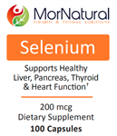 Selenium - (Replaces Klaire) MorNatural 200 mcg 100 vcaps (0.10 lbs)