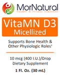 Liquid Vitamin D - VitaMN D3 Micellized Liquid - (Replaces Klaire) MorNatural 30 ml [1 fl oz] (0.21 lbs)