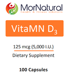 VitaMN D - Vitamin D3 - High-Potency - MorNatural 5,000 IU 100 vcaps (0.09 lbs)
