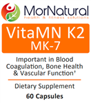 VitaMN K2 (MK-7) - Vitamin K - (Replaces Klaire) MorNatural 50 mcg 60 vcaps (0.06 lbs)