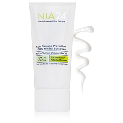 Sun Damage Prevention 100% Mineral Sunscreen SPF 30  - NIA24 2.5 fl oz (0.30 lbs)