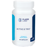 Vitamin B - Active B Trio - Klaire Labs (Formerly ProThera) 60 vcaps (0.08 lbs)