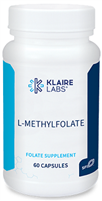 Vitamin B9 - L-MethylFolate - Klaire Labs 1,000 mcg 60 vcaps (0.07 lbs)