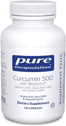 Curcumin 500 with Bioperine® - Pure Encapsulations 120 caps (0.25 lbs)
