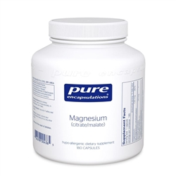 Magnesium (citrate/malate) - Pure Encapsulations 120 mg 180 caps (0.60 lbs)