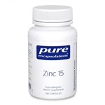 Zinc 15 (zinc picolinate) - Pure Encapsulations 15 mg 180 caps (0.15 lbs)