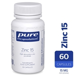 Zinc 15 (zinc picolinate) - Pure Encapsulations 15 mg 60 caps (0.05 lbs)
