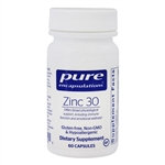 Zinc 30 (zinc picolinate) - Pure Encapsulations 30 mg 60 caps (0.05 lbs)
