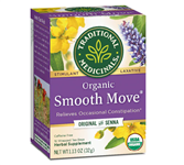 Tea - Organic Smooth Move Senna Herbal - Traditional Medicinals 16 bags (0.15 lbs)