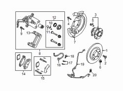 Mazda CX-3 Left Caliper assy seal kit | Mazda OEM Part Number DAY3-26-46Z