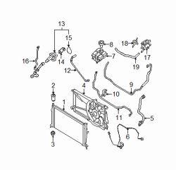 Radiator Coolant Hose-Molded Coolant Hose Lower Gates fits 07-09 Mazda 3 2.3L-L4