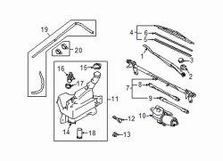 Mazda GS3M-67-321 Windshield Wiper Arm