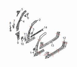 Mazda RX-8 Left Inner bracket | Mazda OEM Part Number FE01-71-260