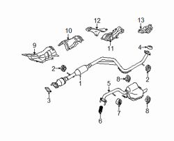Mazda LF07-40-061B Exhaust System Hanger