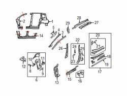 Mazda 5 Right Roof reinf | Mazda OEM Part Number C235-70-320H