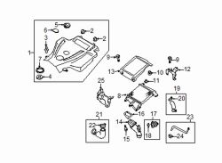 Mazda CX-7  Mount bracket | Mazda OEM Part Number L33E-13-56XA
