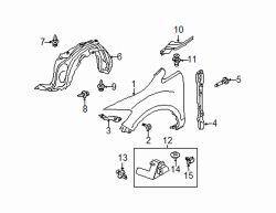 Mazda CX-7 Left Lower molding | Mazda OEM Part Number EG21-51-PP0C