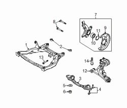 Mazda CX-7 Right Lower cntrl arm | Mazda OEM Part Number EH44-34-300B
