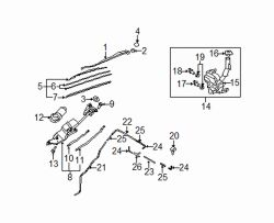 Mazda CX-7  Wiper motor | Mazda OEM Part Number EG21-67-340