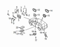 Mazda CX-7 Left Front dr speaker | Mazda OEM Part Number GJ6A-66-960