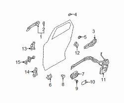 Mazda CX-7 Right Striker | Mazda OEM Part Number L206-58-361A