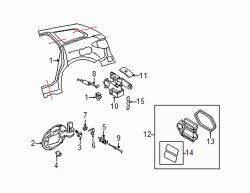Mazda CX-7 Right Pressure vent | Mazda OEM Part Number BJS7-51-920