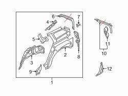 Mazda CX-7 Right Lower panel | Mazda OEM Part Number EG21-70-4A1B